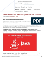 Top 50+ Core Java Interview Questions and Answers