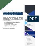 Informe del Sistema Financiero de República Dominicana al mes de septiembre 2019