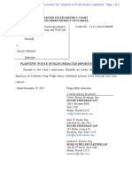 Kleiman v. Wright - Filing 312 - Craig Wright's first deposition on 4 April 2019
