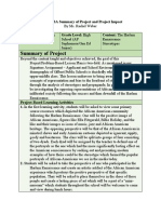 sa summary of project and project impact