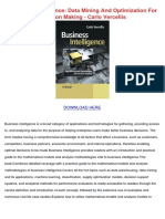 business intelligence data mining and optimization for decision making carlo vercellis.pdf