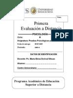 1º EvD PRuebas PSicológicas para Niños