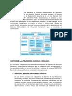 Gestion de Las Relaciones Humanas y Sociales - Especialidad