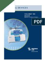 Bombas de infusion volumat manual español