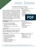 Three Day Php Web Development Workshop
