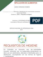 Evidencia 1-RAP 3 Requisitos de Higiene