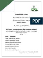 """Práctica 5. """"Determinación de La Alcalinidad de Una Sosa Comercial y Determinación de Na2Co3 en Una Muestra Por Titulación Al Retorno"""""""