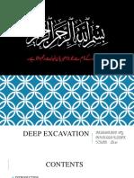 DEEP EXCAVATION PROCEDURE