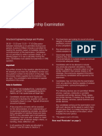 Past paper IstructE CM exam