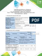 614-Guía de Actividades y Rúbrica de Evaluación - Fase 3 - Muro Colaborativo Sobre La Interacción Entre Suelo - Microorganismos - Plantas