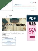 05 Livros Em PDF de Boris Fausto Para Baixar - Online Cursos Gratuitos