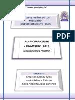 Plan Currular i Trimestre 2019 2º