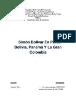 Simón Bolívar viajes