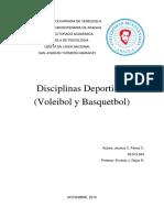 Informe de Disciplinas Deportivas