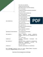 Amparo PDI CARABINEROS