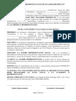 Contrato de Representacion de Jugador Prospecto