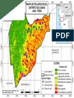 Mapa de peligros del distrito de Comas