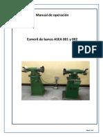 Manual Operativo Esmeril de Banco Tmi-5