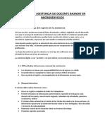 Generalidades Del Registro de La Asistencia