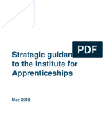 Strategic Guidance to the Institute for Apprenticeships