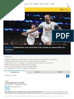 Champions League Latest_ Spurs v Olympiakos & Man City v Shakhtar Donetsk