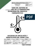 Pso1101 Programa Del Sistema de Monitoreo de La Temperatura en Neveras Del Servicio Farmacéutico