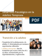 Desarrollo Psicologico en La Adultez Temprana