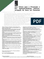 Diretrizes de Dor Agitacao Delirium Imobilidade e Sono PADIS Guidelines Portuguese Translation