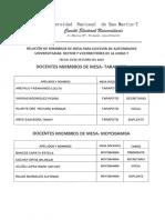 Miembros Demesa 23 10 Elecciones Rector Vicerrectores Unsm 2019