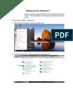 Setting Ad Hoc Windows 7,8,10