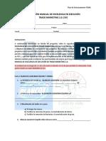 Evaluación Manual de Ejecución TDMK -3 Versión