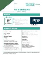 Matrícula Ciclo Intensivo Centro Pre 2020