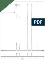 HNMR 3-nitro4-methoxyacetophenone