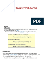 Active And Passive Voice Verb Subject Grammar