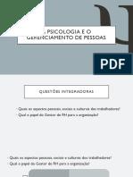 Slide Psicologia e o Gerenciamento de Pessoas