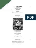 DOLET, Estienne • La maniere de bien traduire d'une langue en aultre ... par Estienne Dolet natif d'Orleans ... A Lyon, chés Dolet mesme (1540)