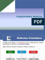 3. Irregularidades atómicas