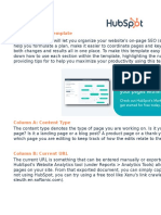 On-Page SEO Template - HubSpot