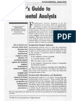 Investor's Guide to Fundamental Analysis