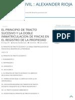 EL PRINCIPIO DE TRACTO SUCESIVO Y LA DOBLE INMATRICULACION DE FINCAS EN EL REGISTRO DE LA PROPIEDAD – PROCESAL CIVIL _ ALEXANDER RIOJA BERMUDEZ.pdf