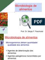 Teórica 11 e 12 - Microbiologia Dos Alimentos, Ar, Água e Solo