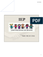 The IEP Individualized Educational Plan 21