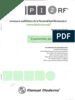 Cuadernillo de Aplicación MMPI-2 RF