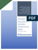 ESTADO FALLIDO VS ESTADO CONSTITUCIONAL