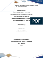Tecnicas de Valoracion Ergonomica Grupo 212044_21 Aporte