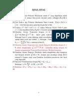 Soal Soal Metode Numerik 1