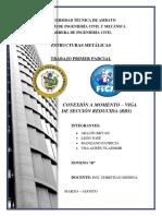 CONEXIÓN A MOMENTO – VIGA DE SECCIÓN REDUCIDA (RBS)