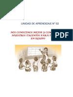 C-UNIDAD DE APRENDIZAJE N° 02 - SEGUNDO GRADO.