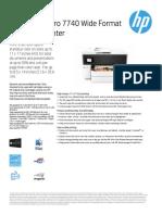 HP OfficeJet Pro 7740 Datasheet