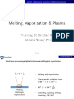 ESC 545- Fall 2019 - Lecture 11 - Melting Vaporization and Plume- 01-Markup